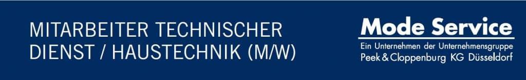 Mode Service sucht Mitarbeiter technischer Dienst / Haustechnik in Mannheim