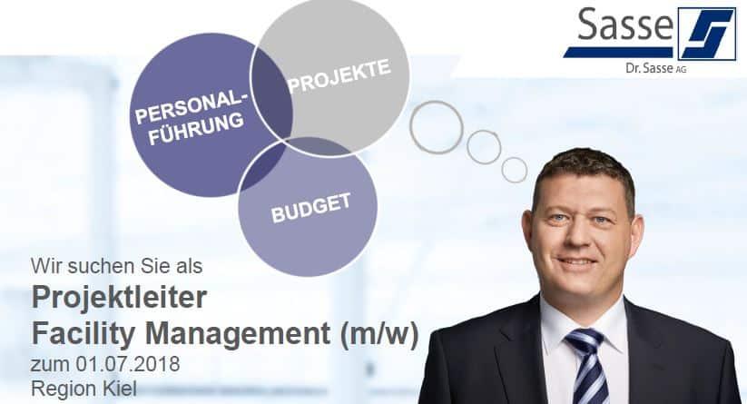 Dr. Sasse sucht Projektleiter Facility Management