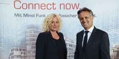 Andrea Krämer und Alexander Lehmann von der Minol-Zenner-Gruppe. Bild: S. Berger