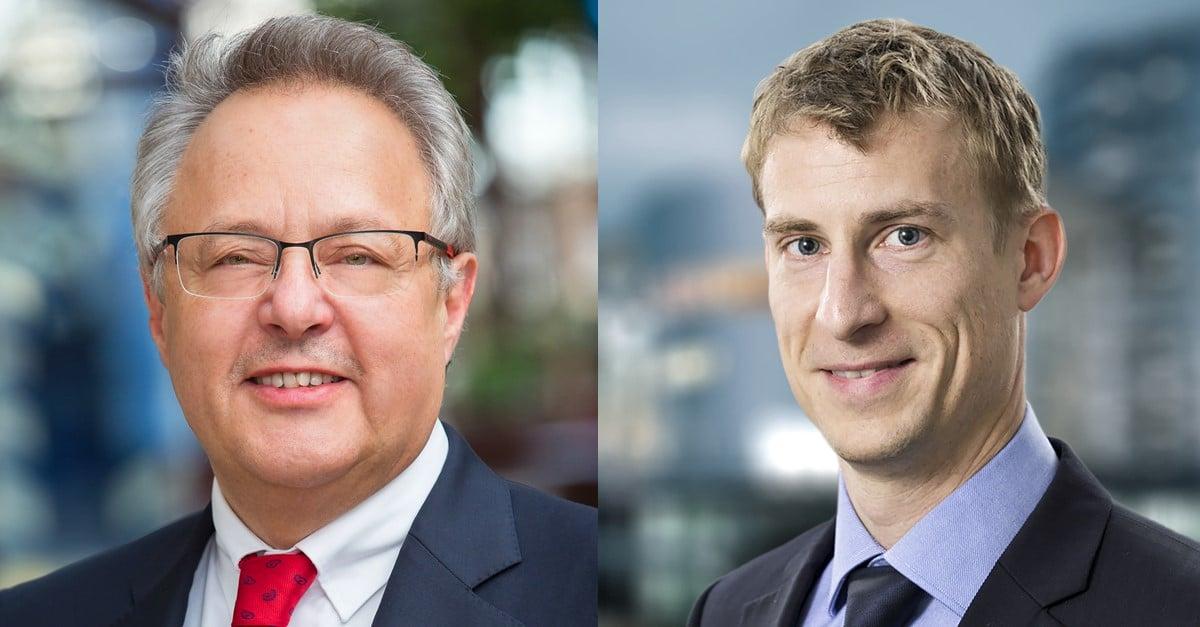 Otto Kajetan Weixler (links) und Robin Petersen. Bild: Apleona
